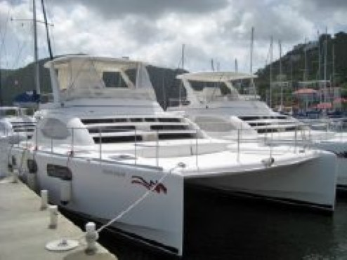 Preowned Power Catamarans for Sale 2007 Leopard 47 Boat Highlights